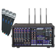 VocoPro PA-PRO-900-2 PA Mixer w/ 4 Wireless Mics +