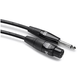 "Hosa HMIC-010HZ 10 Foot Mic Cable Rean XLR (F) To 1/4"" TS 20 AWG"