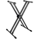 On-Stage KS8291XX Double X Keyboard Stand w/ Lok-Tight Construction
