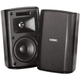 QSC AD-S32T-BK 3-In 2-Way Wall Mount Speakers blk