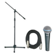 Shure BETA58A Mic Pack W/Stand And 20Ft Mic Cabl +