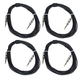 Economy 1/4 To 1/4 25Ft Speaker Cable 4 Pack     +