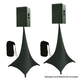 Tripod Speaker Stand Cover Twin Pack - Black
