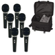 Pro ST90MKII 6 Vocal Mics And Travel Bag Pack    +