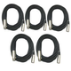 Pro 20Ft Xlr To Xlr Microphone Cable 5 Pack
