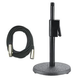 DS7200B Desk Top Mic Stand Plus 20Ft Mic Cable