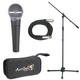 Shure 1 x SM58 Mic Pack W/Stand Cable And Tote   +