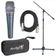 Shure 1 x BETA57A Mic Pack W/Stand Cable Tote    +