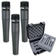 Shure 3 x SM57 And Tour Grade Mic Case Pack      +