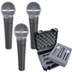 Shure 3 x SM58 Tour Grade Mic Case Package       +