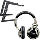 Shure SRH750DJ Headphone And Laptop Stand Pack   +