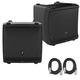 "Mackie Pair of DLM8 8"" Powered Speaker Bundle  + +"