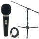 Audio Technica ST90-MKII Mic with Short Stand & XLR Cable