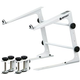 Odyssey LSTANDWHT DJ Laptop Stand W/ Clamps (Wht)