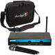 Gemini UHF-216M Dual Handheld Wireless Mic System w/ Carry Bag