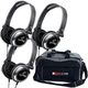 Deluxe Dj Headphone 3 Pack & Pro Gear Bag