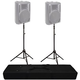 Ultimate TS-100B Air-Powered Speaker Stand 2-Pack and Bag