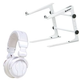 Dj White Laptop Stand Plus White Headphones Pack +