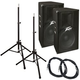 Peavey PV115 15 in Passive PA Speakers Bundle