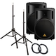 Behringer B215XL 15 in Passive PA Speakers Bundl +