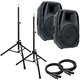 American Audio ELS15A Powered Speaker Bundle