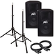 Peavey PV115D 15 in Powered PA Speakers Bundle