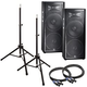 JBL JRX225 Dual 15 in Passive PA Speakers Bundle *