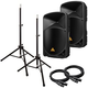 Behringer B115W 15 in Powered PA Speakers Bundle +