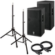 Yamaha DXR15 15 in Powered PA Speakers Bundle