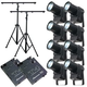 Eliminator LED Spot 8-Pack with 2-Stands & Controller