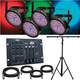 Chauvet SlimPar56 4-Pack with Light Stand & Controller