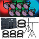Chauvet SlimPAR56 8-Pack with 2 Stands & Controller