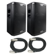 Alto Black 15 in Powered PA Speaker Pair w Cables