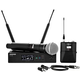 Shure QLXD124/85 Dual Wireless System with WL185 Lavalier & SM58 Mic