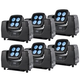 Chauvet WELL FLEX Quad RGBW 6 Pack W/ Flight Case