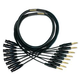Mogami Gold Snake 8 Ch 1/4 TRS to F XLR Cable 15ft