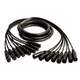 Mogami Gold Snake 8 Ch XLR to XLR Cable 25ft
