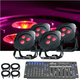 ADJ American DJ Ultra HEX Par3 4 Pack LED Light System