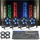 ADJ American DJ 5P Hex RGBAWUV 4 Pack LED Light System