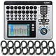 QSC TouchMix 16 Digital Mixer with (16) XLR Cables