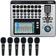 QSC TouchMix 16 Digital Mixer with (6) Audio-Technica Microphones