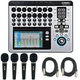 QSC TouchMix 16 Digital Mixer with (4) Audio-Technica Microphones