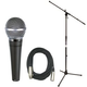 Shure SM48SLC Wireless Mic w/ Stand and Cable Pack