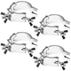 "Global Truss Mini 360 2"" Wrap-around Clamp 4-Pack"