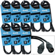 Accu-Cable 3-Pin XLR 5ft DMX Light Cable 8 Pack