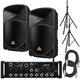Behringer XR12 Digital Mixer & (2) B115W Powered Speakers with Stands