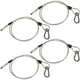 Steel Light Fixture Safety Cable w/ Latch 4 Pack