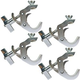 Low Profile Hook Clamp for 1.5 to 2in Truss 4 Pack