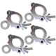 Global Truss Eye Clamp 2-Inch Wrap Around 4 Pack
