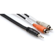 Hosa 1/8inch Stereo to Dual RCA Cable 25 ft